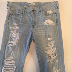 Abercrombie & Fitch Distressed Jeans. Size 8